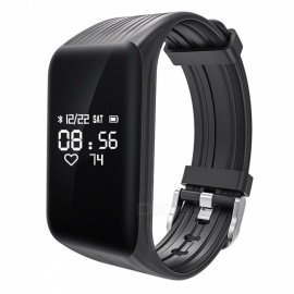Fitness Tracker K1 Smart Bracelet Real-time Heart Rate Monitor - Black