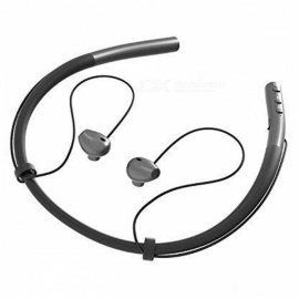 Bluetooth V4.2 Headphones Sports Running Sweatproof Wireless Headset In-ear Earbuds Earphones - Black