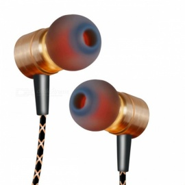QKZ X41M Magnetic Earphone, HIFI Fever in-ear Transient Headset - Golden