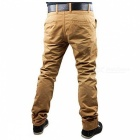 Summer Men's Solid Color Trousers Business Casual Straight-Leg Pants - Khaki (3XL)
