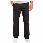 Summer Men's Solid Color Trousers Business Casual Straight-Leg Pants - Black (L)