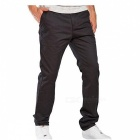 Summer Men's Solid Color Trousers Business Casual Straight-Leg Pants - Black (XL)