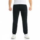 Summer Men's Cotton Casual Ankle Banded Pants Trousers - Black (M)