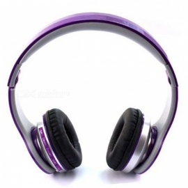 OJADE On-Ear Wireless Headphone, Dynamic Plastic Mobile Phone Earphone with Volume Control, Microphone - Purple