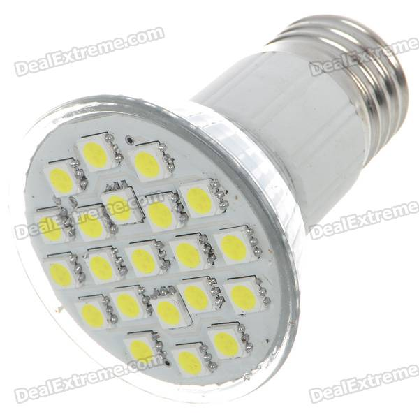 E27 3.5W 150-Lumen 7000K 21-SMD 5050 LED White Light Lamp Bulb (110V) e27 2w 100 lumen 3000k 30x3528 smd led warm white light lamp bulb 110v