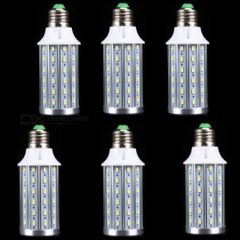ZHAOYAO 6Pcs E27 17W 1700 Lumens AC100-240V 5730SMD-72LEDs Aluminum Corn Light Bulb - White Light