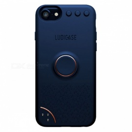 Ludicase Fidget Relieving Spinner Toy Protective Soft Silicone Back Cover Case for IPHONE 6 / 7 / 8 - Navy Blue
