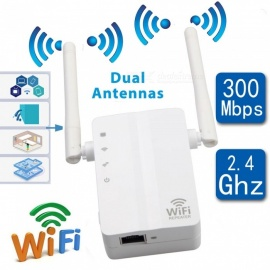 Portable Mini 300Mbps Wall Plug Wi-Fi Wireless Receiver Router Repeater Adapter (US Plug)