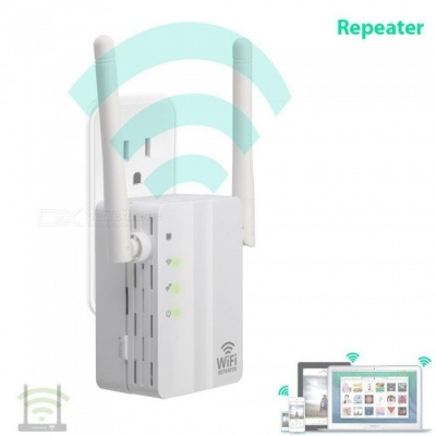 Portable Mini 300Mbps Wall Plug Wi-Fi Wireless Receiver Router Repeater Adapter (EU Plug)