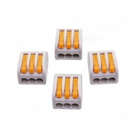 ZHAOYAO 10Pcs Universal Wire Terminals, Flame Retardant Plastic Wire Connector (3 Holes)