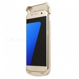 4200mAh Rechargeable Power Bank Backup External Battery Charger Case Cover for Samsung S7 - Golden