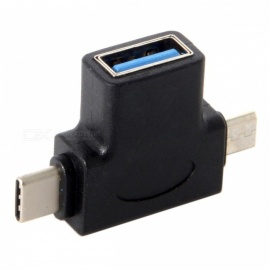 CY UC-065 USB 3.1 Type-C & Micro USB Combo to USB 2.0 A Female OTG Data Host Adapter