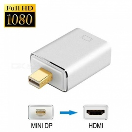 Mini DisplayPort DP para HDMI adaptador conversor 1080P para MAC PC - prata