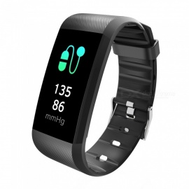R11 IP67 Waterproof Touch Screen Wireless Bluetooth Smart Bracelet Fitness Tracker - Black