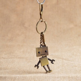 Creative Retro Activity Robot Car Keychain Key Ring Model - Antique Bronze