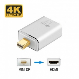 4K x 2K Mini DisplayPort DP (Thunderbolt) to HDMI Adapter - Silver