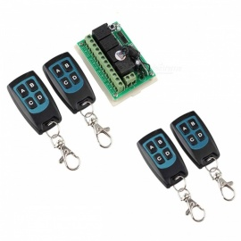 12V 4-CH Channel 433MHz Wireless Remote Control Switch with 4 Remote Controls - Milk White