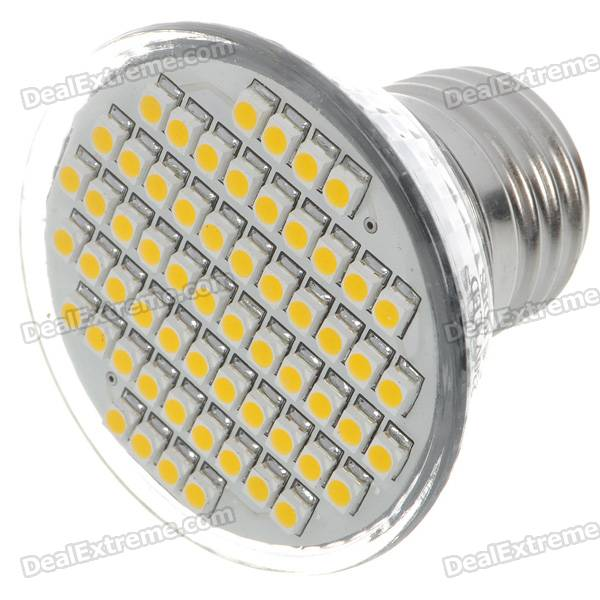 E27 3.5W 140-Lumen 3000K 60x3528 SMD LED Warm White Light Lamp Bulb (110V) e27 2w 100 lumen 3000k 30x3528 smd led warm white light lamp bulb 110v