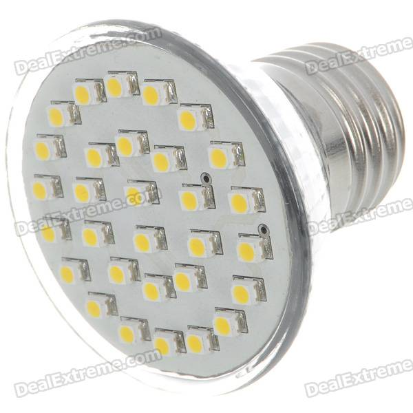 E27 2W 100-Lumen 3000K 30x3528 SMD LED Warm White Light Lamp Bulb (110V) e27 2w 100 lumen 3000k 30x3528 smd led warm white light lamp bulb 110v