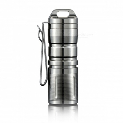 Jetbeam MINI-1 XP-G2 LED 130LM USB Chargeable Stainless Steel Keychain Flashlight  - Titanium Grey