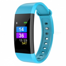 I9 IP67 Waterproof Intelligent Color Screen Smart Bracelet Fitness Tracker - Blue