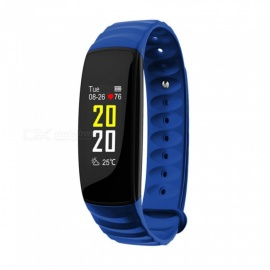 Inseguitore di fitness intelligente braccialetto intelligente bluetooth impermeabile H107 IP67 - blu