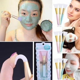Professional Silicone Facial Face Mask Mud Mixing Skin Care Beauty Makeup Brush Foundation Tool - Blue