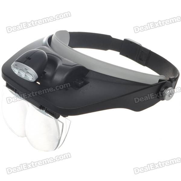 Light Head Magnifying Glasses with 4 Pieces Different Multiple Lens (3*AAA) light head magnifying glasses with 4 pieces different multiple lens 2 aaa
