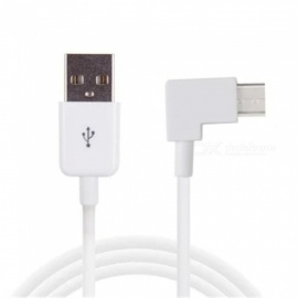 MAIKOU 90 Degrees Right Angled USB 2.0 to Type-C Cable - White