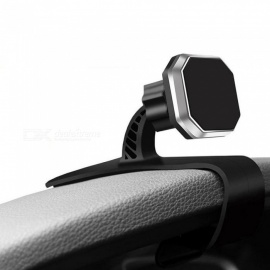 Magnetic HUD Design Car Adjustable Mobile Phone Mount Holder Support - Black