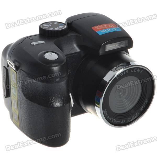 "2.4"" TFT LCD 5MP CMOS Digital Video Camcorder w/ 8X Digital Zoom/TV Out/TF Slot"