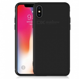 Dayspirit Protective Matte Frosted TPU Back Case for IPHONE X - Black