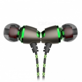 QKZ DM11 Magnetic Stereo Bass Metal In-Ear Earphone, Noise Cancelling Headset - Green