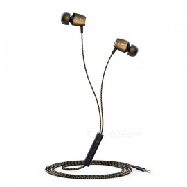 QKZ X36M In Ear Magnetic Adsorption Interactive Earphone with Microphone - Golden