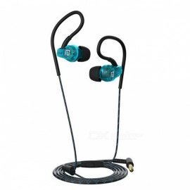 Original Langsdom SP80A 3.5mm Wired Stereo Sport Earphone for Phone - Blue