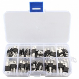 Hengjiaan LM317T-L7824 50 pcs 10 valores regulador de tensão IC sortido assorted kit