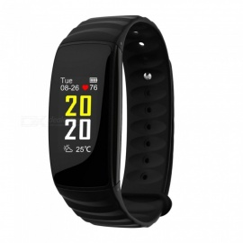 H107 IP67 Waterproof Color Screen Smart Bracelet w/ Heart Rate Monitor, Health Tracker - Black