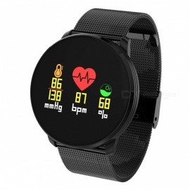 Q8MINI Bluetooth Smart Bracelet Watch w/ Heart Rate Monitoring, Information Reminder - Black