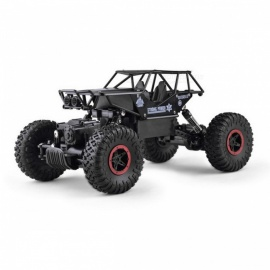 Electric RC Car 1:18 4DW 2.4GHz Metal Rock Crawlers Rally Climbing Car - Black