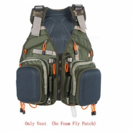Adjustable Fly Fishing Vest Pack Backpack, Multifunction Pocket - Army Green