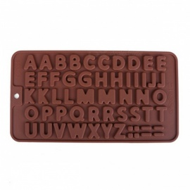 3D Double 26 Letters Shape Chocolate Molds