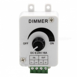 DC 12-24V 16A regulador del interruptor del regulador del solo color LED para la tira rígida del solo color LED de SMD 3528 5050 5730