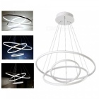 ZHAOYAO Modern Minimalist Nordic Style Circular LED Chandelier for Dining Room - White Light