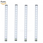 ZHAOYAO USB Rechargeable 2835SMD 15-LED Stepless Simming Touch Night Light - White (4 PCS)