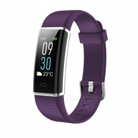 ID130C Color Screen  IP67 Waterproof Smart Bluetooth Bracelet with 24 Hours Optical Dynamic Heart Rate Monitoring - Purple