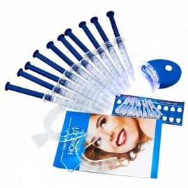 Teeth Whitening Whitener Bleaching Professional Tool Kit - Blue + Translucent (10 Gels)