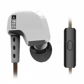 Original QKZ DM200 In Ear Earphone, Original HIFI Headset - White (With Microphone)
