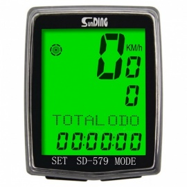 Sunding SD 579A Bike Speedometer Wired Temperature Testing Stopwatch Bicycle Computer