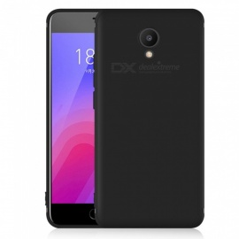 Dayspirit Protective Matte Frosted TPU Back Case for Meizu M6 - Black