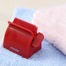 Creative Plastic Sanitary Automatic Toothpaste Squeezer - Red